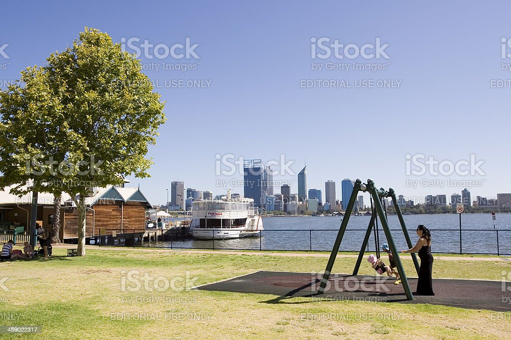 South Perth Morning royalty-free stock photo
