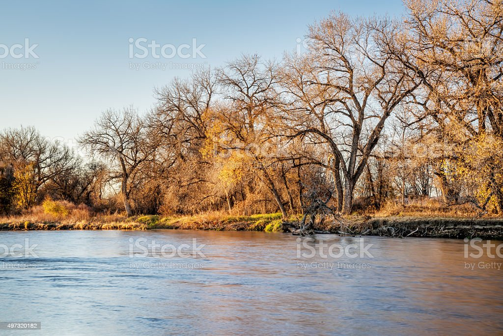 South Platte River in Colorado stock photo