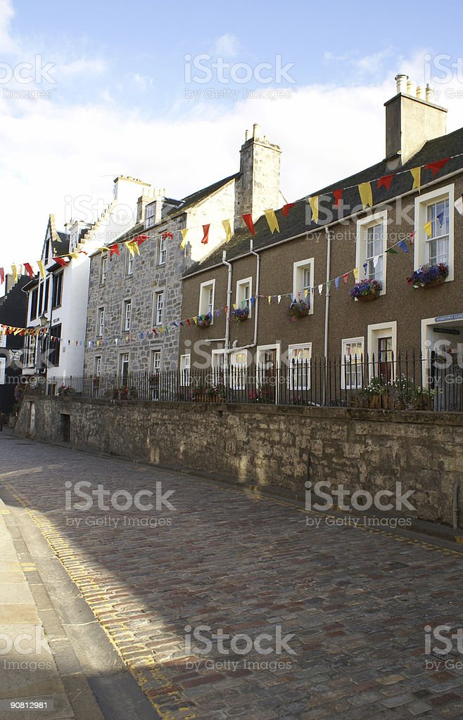 South Queensferry High Street royalty-free stock photo