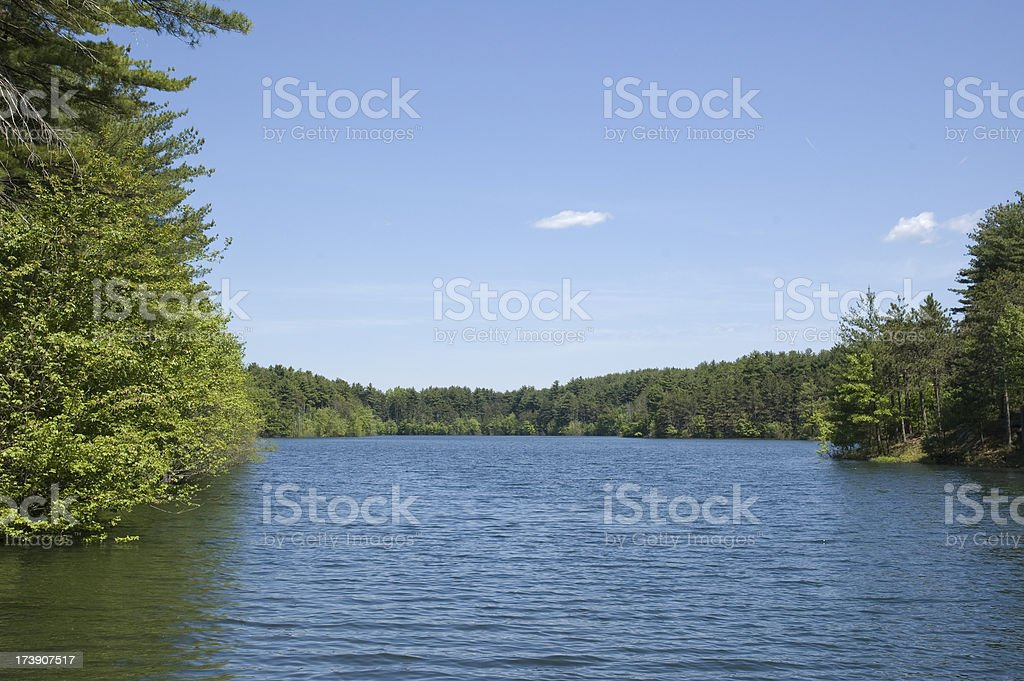 South Reservoir, Winchester MA royalty-free stock photo