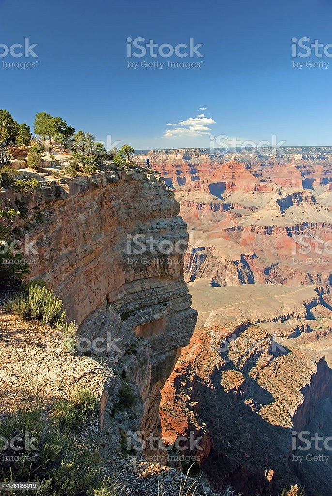 South Rim of Grand Canyon in Arizona panorama royalty-free stock photo