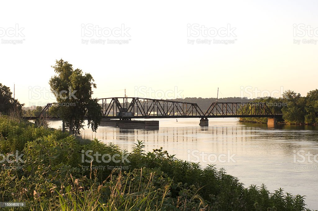South Saint Paul Swing Bridge royalty-free stock photo