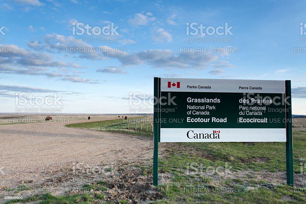 South Saskatchewan Grasslands National Park canada stock photo