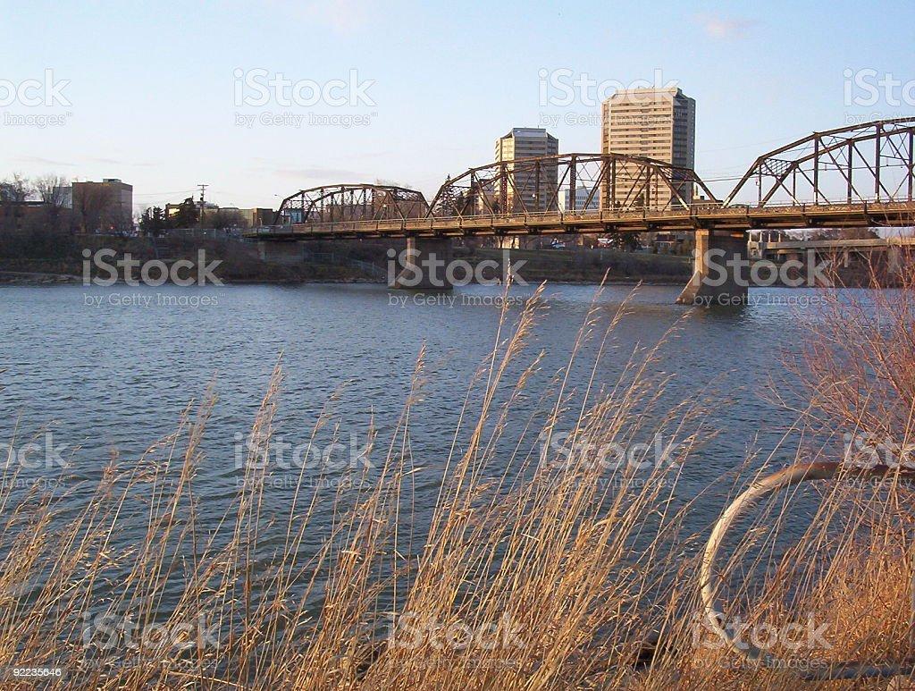 South Saskatchewan River royalty-free stock photo