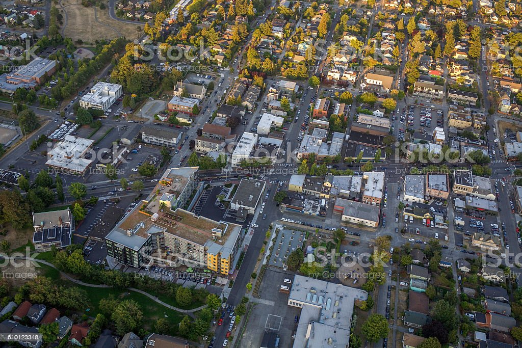 South Seattle Suburbs stock photo