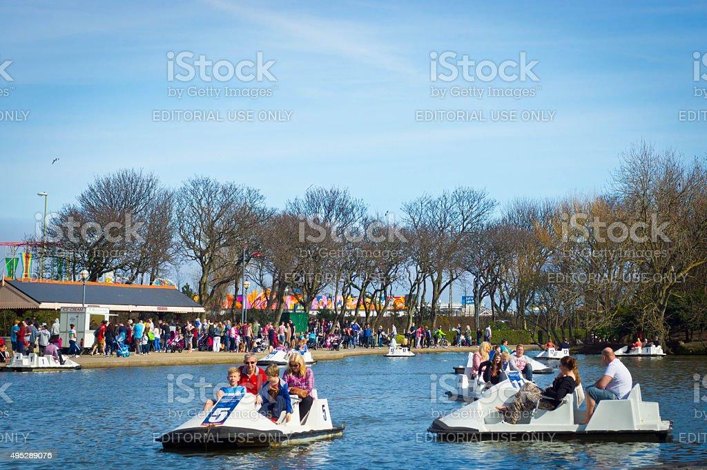 South Shields South Marine Park stock photo