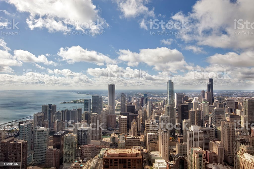 South Side of Downtown Chicago stock photo