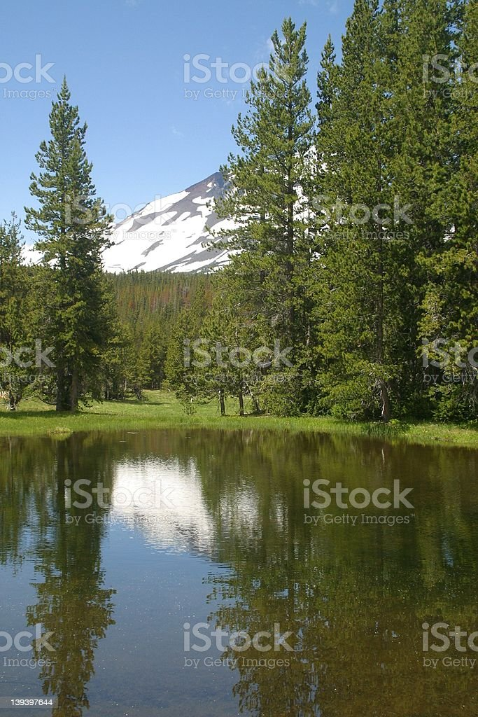 South Sister Mountain royalty-free stock photo