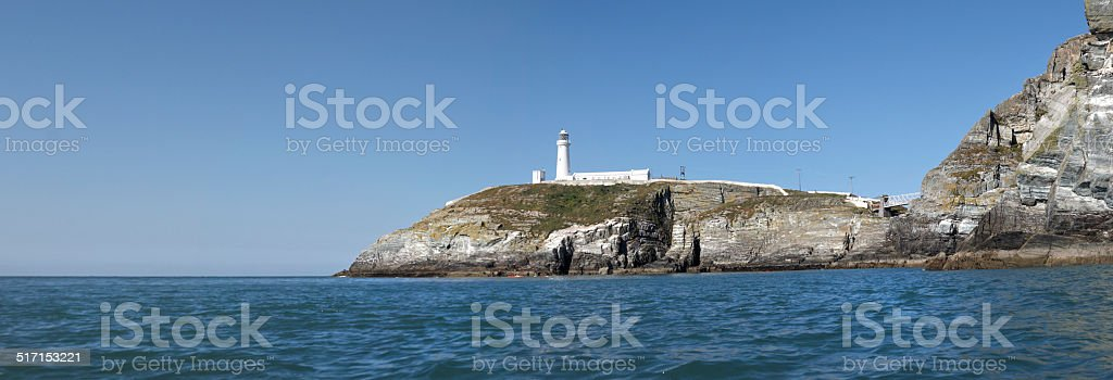 South Stack Lighthouse, Anglesey, North Wales, Britain. stock photo