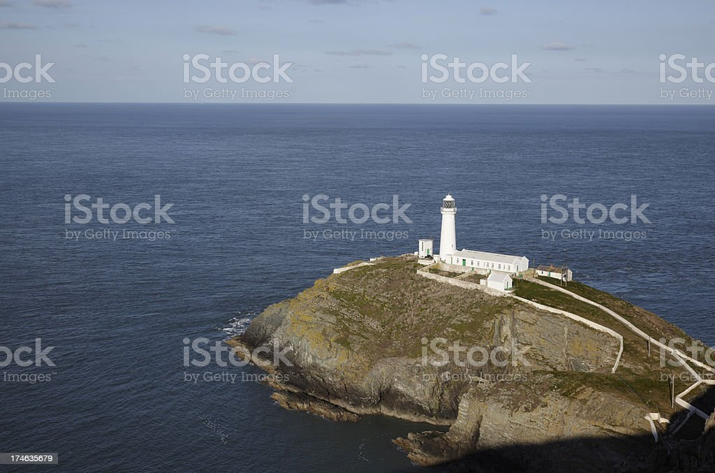 South Stack Lighthouse, Anglesey, North Wales stock photo