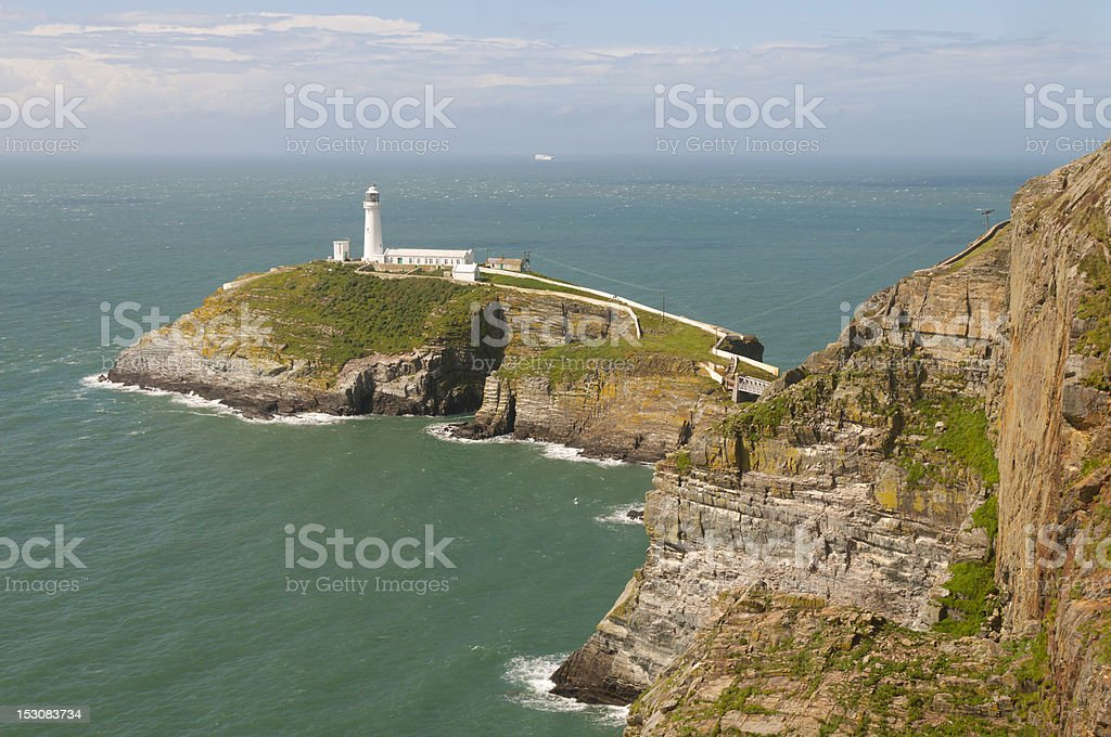 South Stack Lighthouse Anglesey stock photo