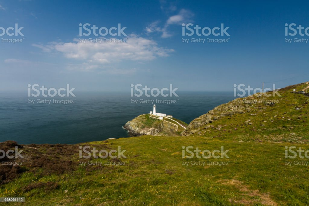 South Stack lighthouse, Anglesey stock photo