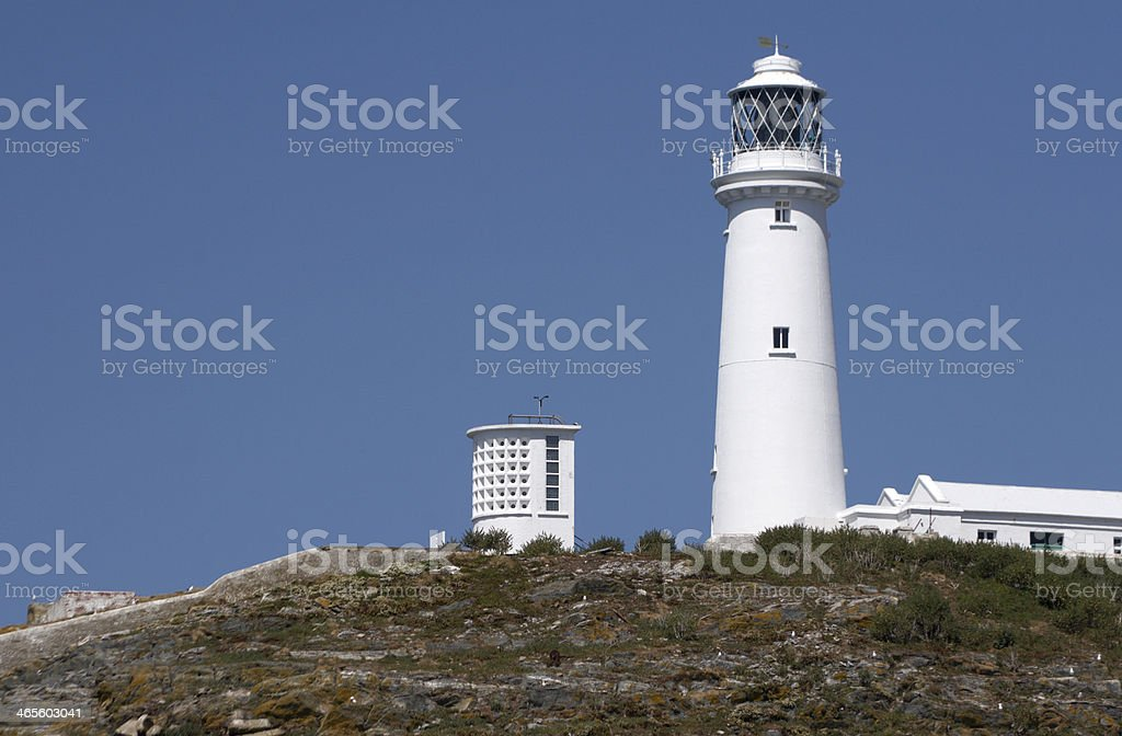 South Stack Lighthouse, Anglesey, Wales, Britain stock photo