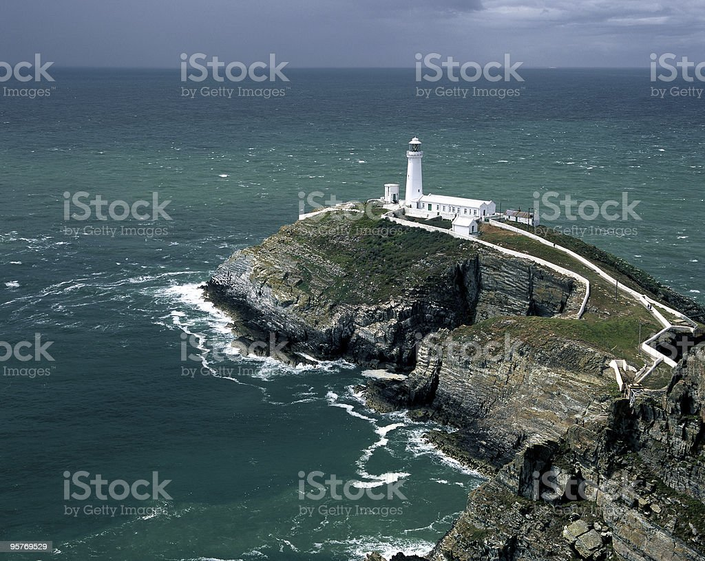 South Stack lighthouse in Wales, United Kingdom stock photo