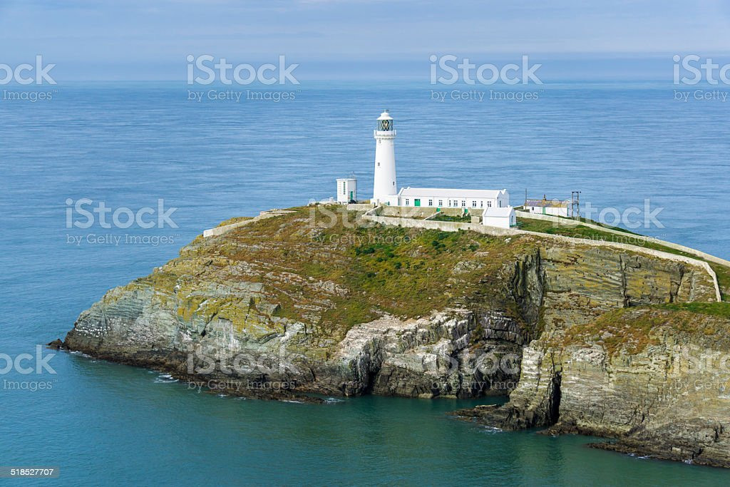 South Stack Lighthouse on a Calm Day stock photo