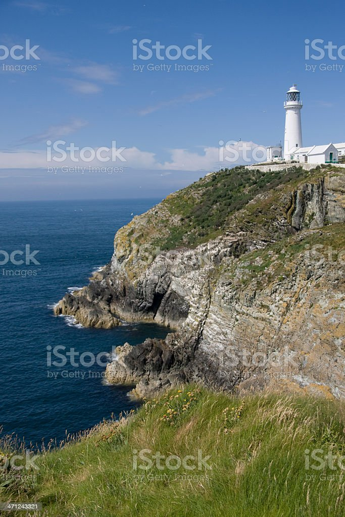 South Stack Lighthouse on Anglesey stock photo