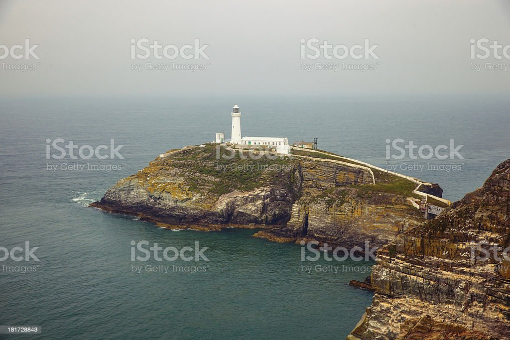South stack lighthouse stock photo