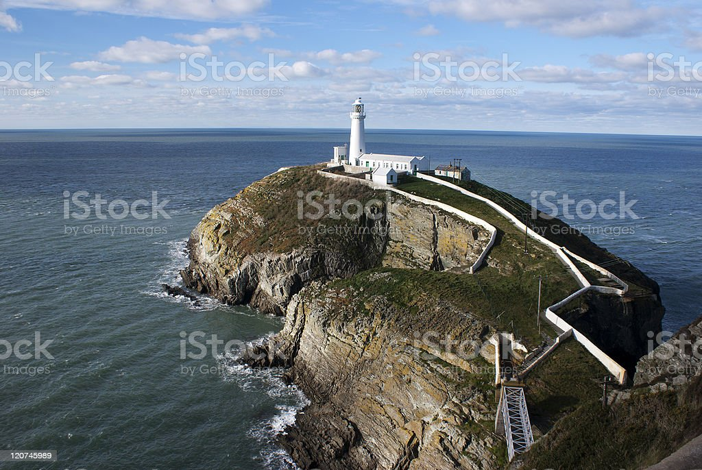 South Stack lighthouse,Holy,Island,Anglesey,North Wales stock photo