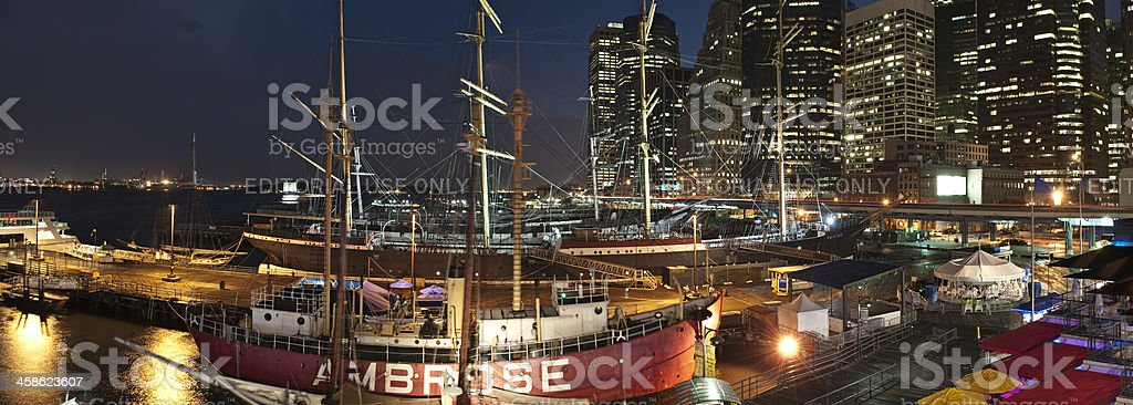 South Street Seaport New York City royalty-free stock photo