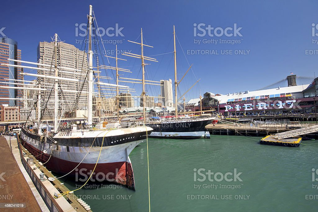 South Street Seaport NYC stock photo