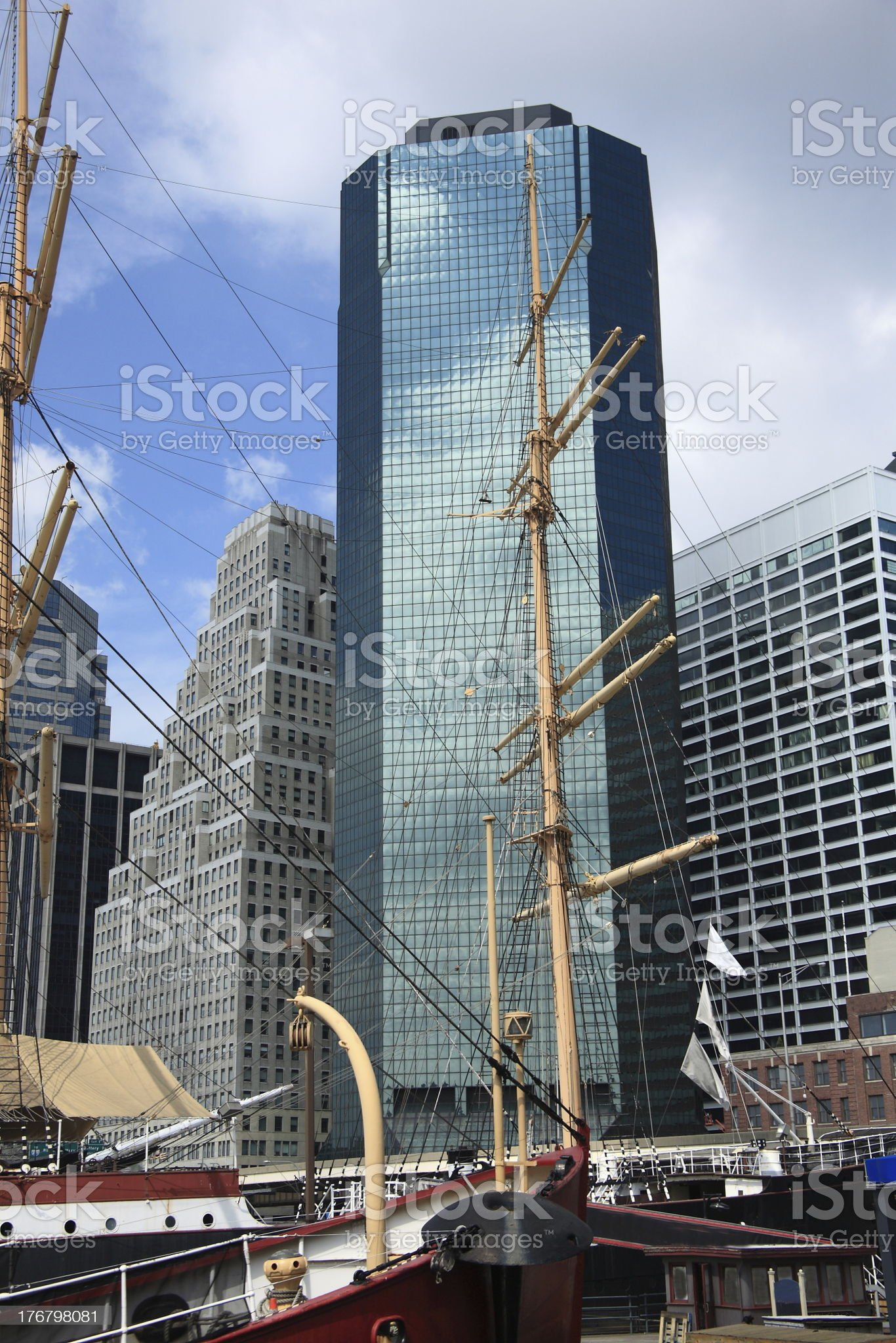 South Street Seaport royalty-free stock photo