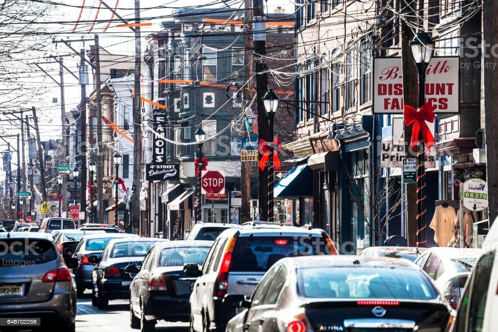 South Street traffic, Philadelphia. stock photo