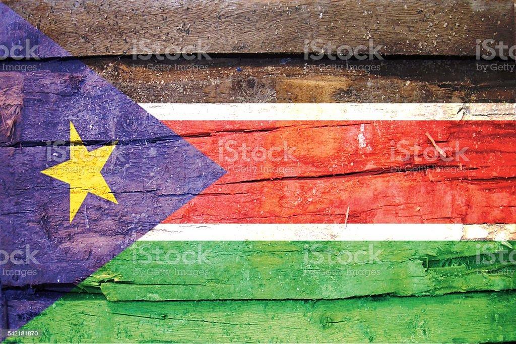 south sudan Flag stock photo