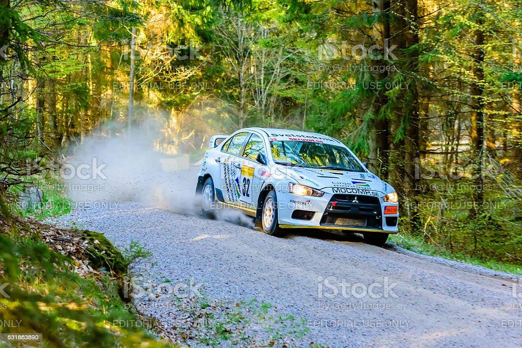 South Swedish Rally race stock photo