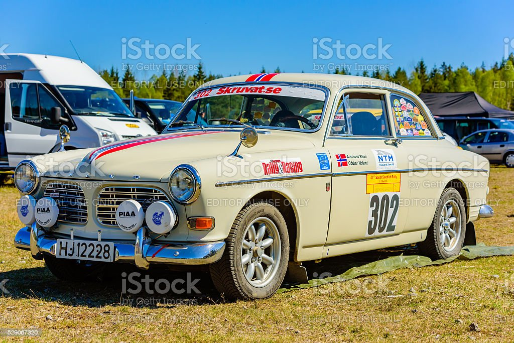 South Swedish Rally service depot stock photo