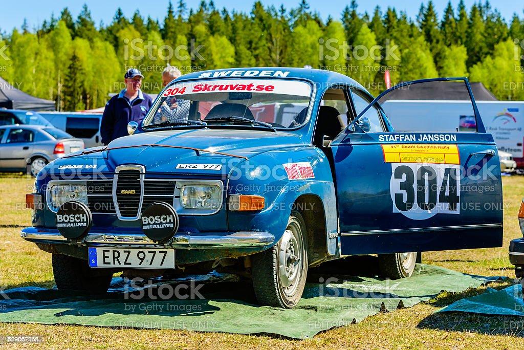 South Swedish Rally service depot stock photo