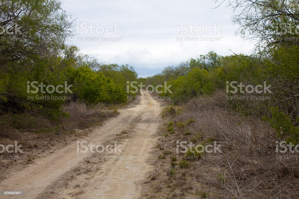 South Texas Ranch Road stock photo