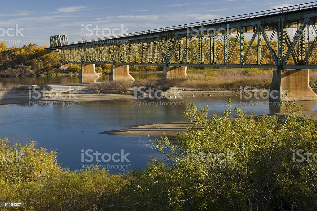 South Train Bridge in Saskatoon stock photo