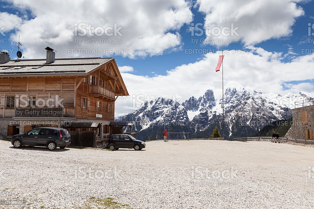 Alto Adige, Dolomites - Duerrensteinhuette stock photo