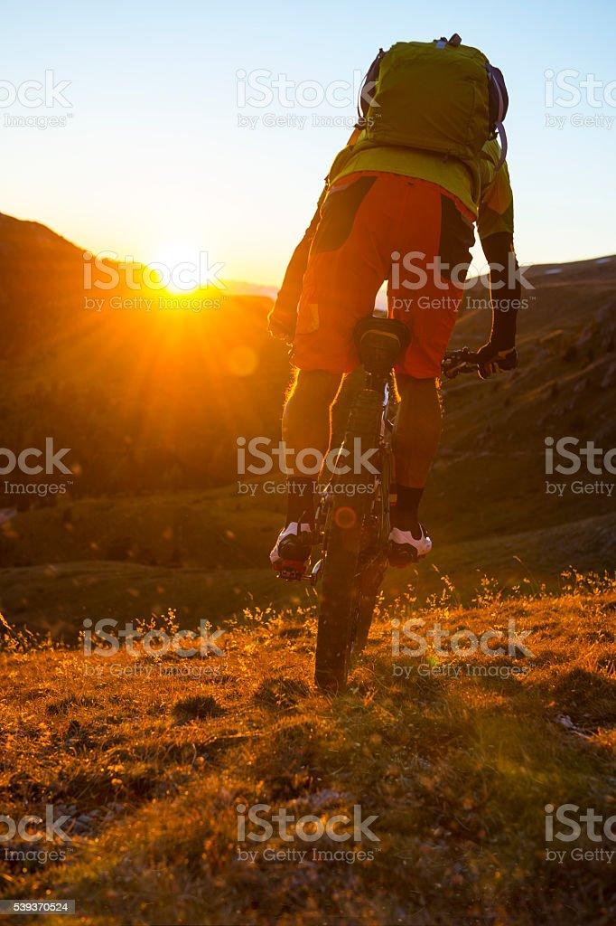 south tyrol mountain biking stock photo