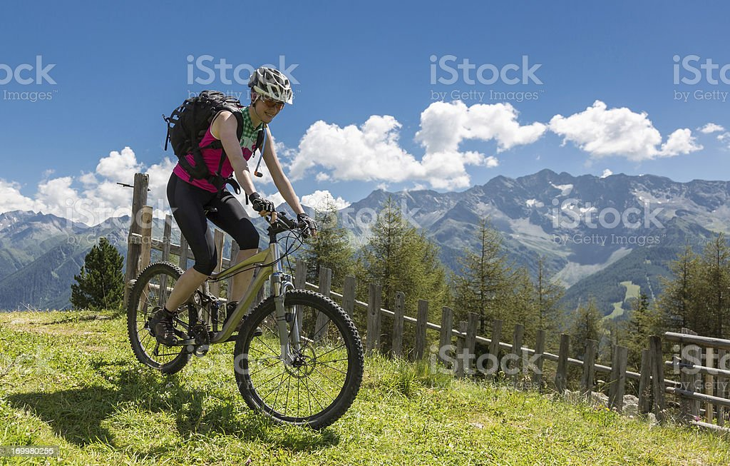 South Tyrol summer holiday biking royalty-free stock photo