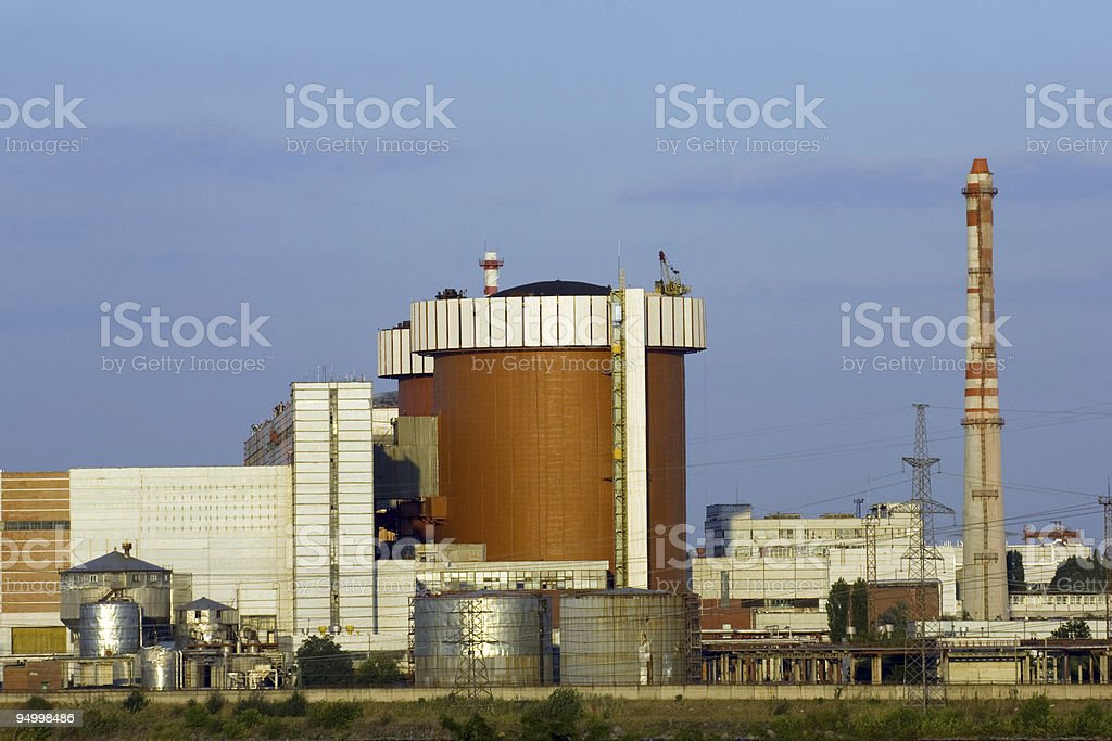 South ukraine nulear power station stock photo