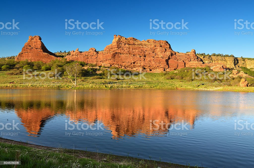 South Valley Reflection stock photo