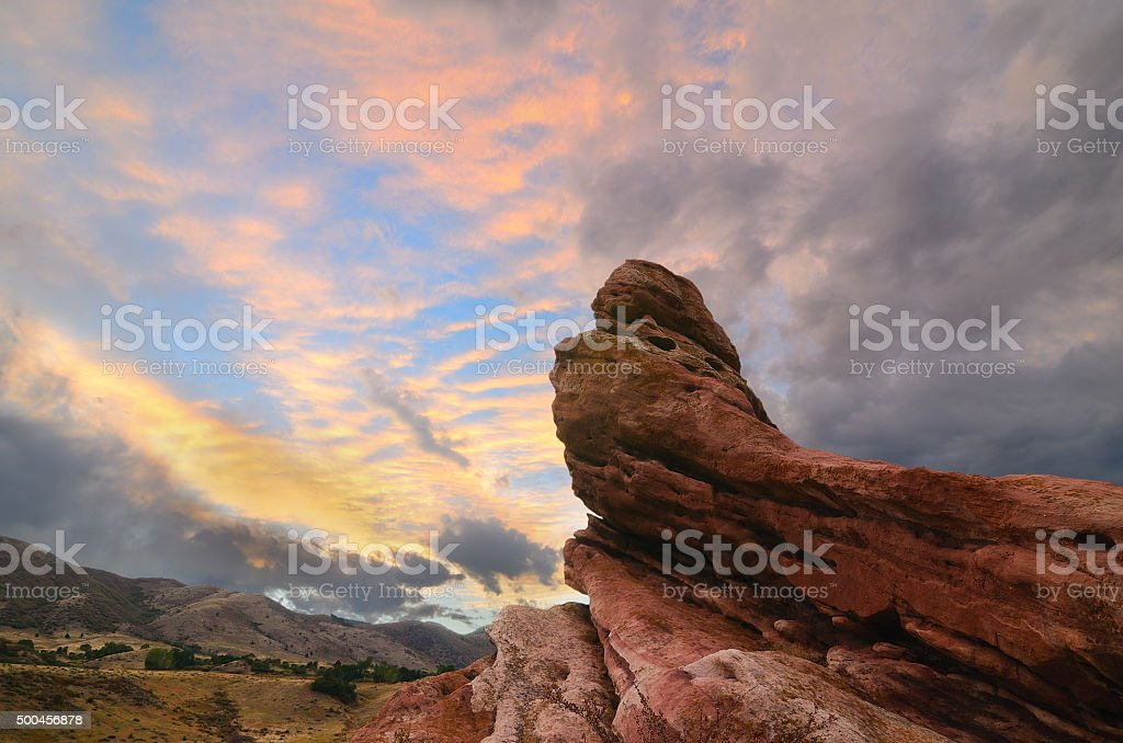 South Valley Sunset stock photo