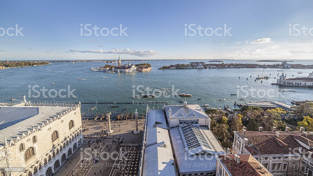 South view inside The bell tower of St. Mark, Venice royalty-free stock photo