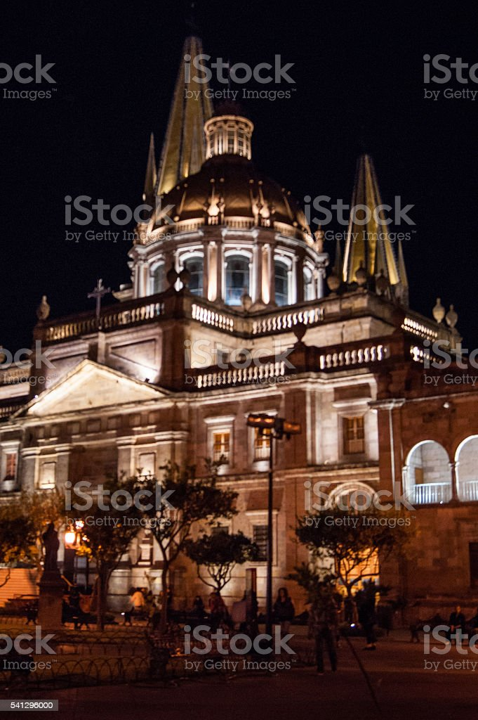 South view of Guadalajara´s Cathedral stock photo