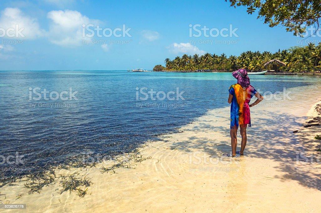 South Water Caye stock photo
