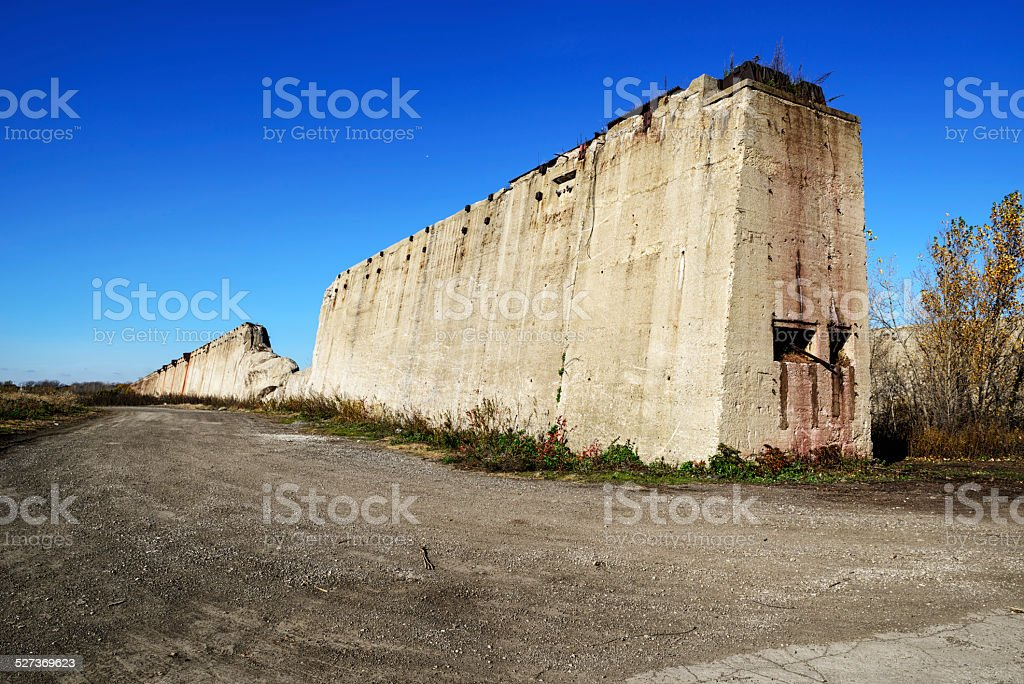 South Works Steel  plant ruins, Chicago stock photo