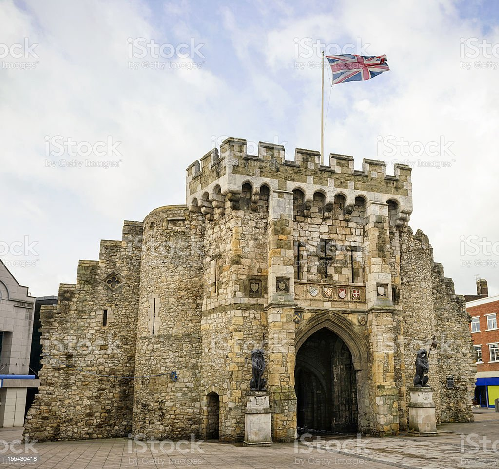 Southampton Bargate stock photo