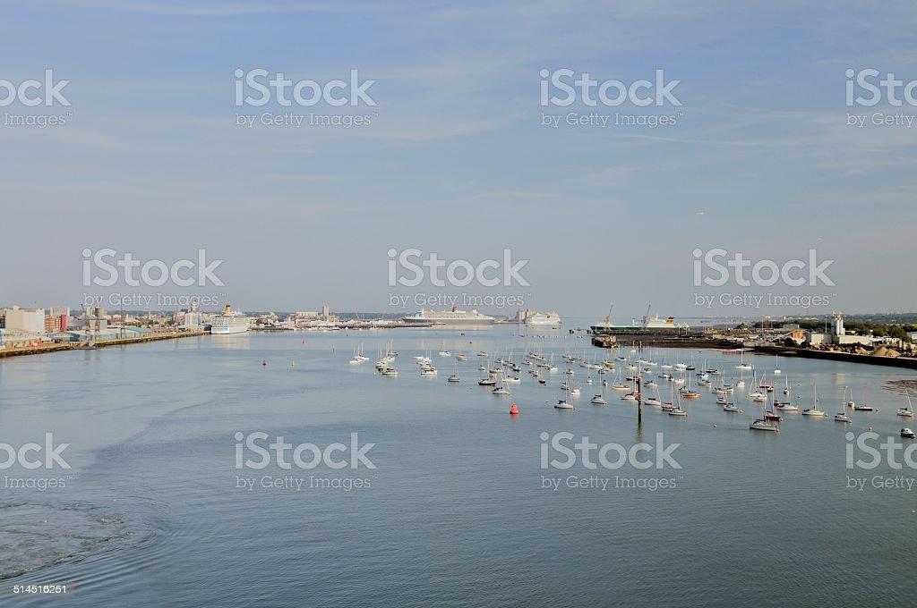 Southampton Cruise Ships stock photo