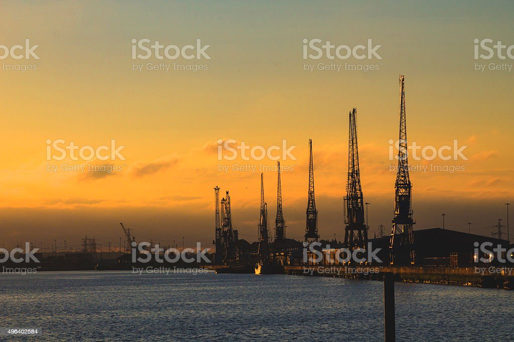 Southampton Docks stock photo