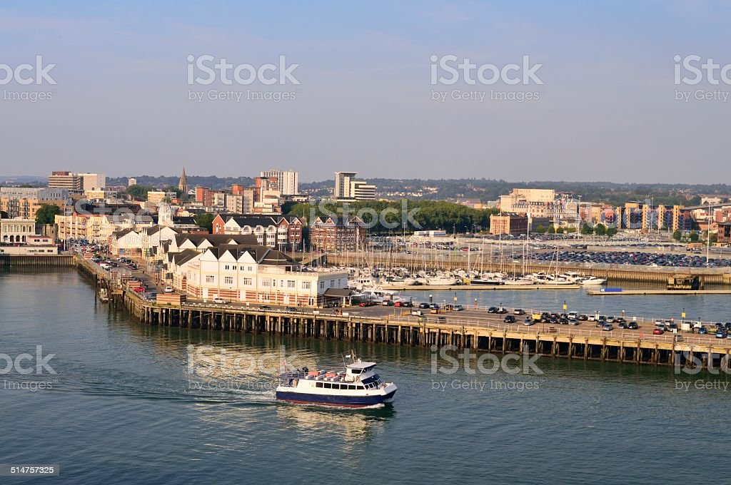Southampton Eastern Docks stock photo
