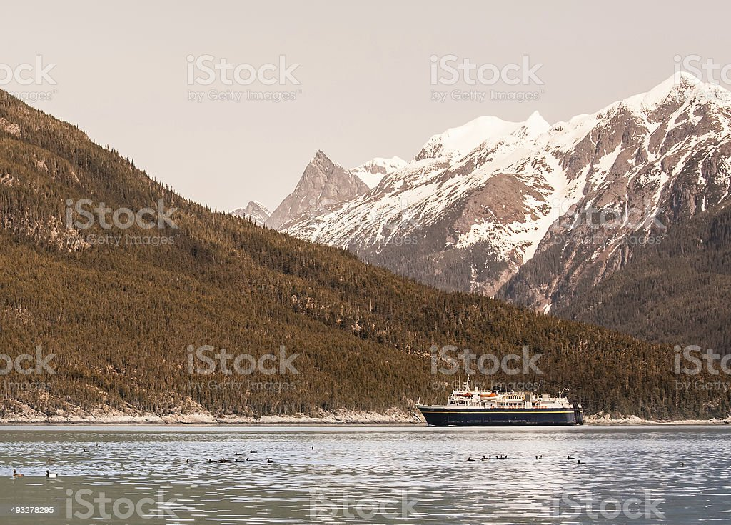 Southeast Alaskan Ferry stock photo