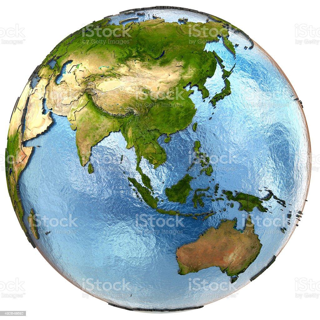 Southeast Asia on Earth stock photo