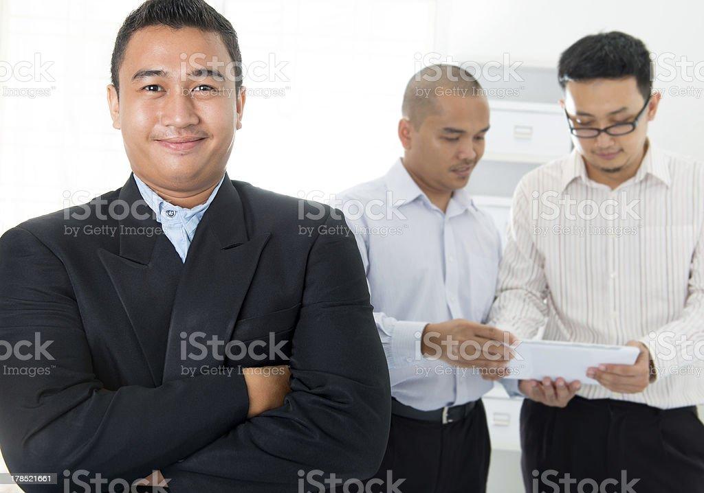 Southeast Asian business men royalty-free stock photo