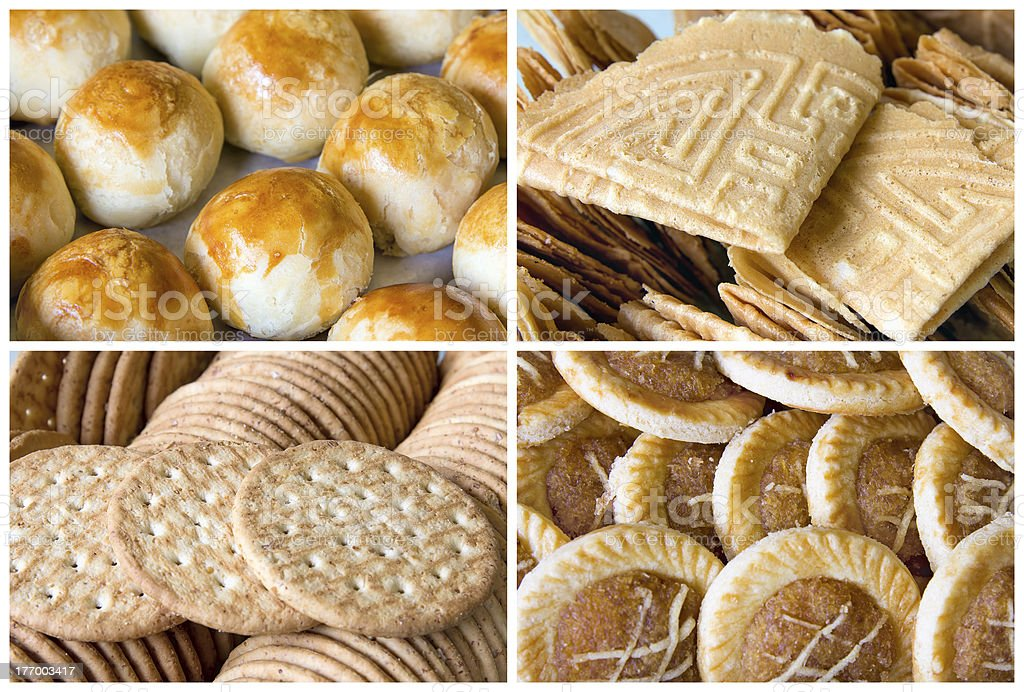 Southeast Asian Cookies and Pastry Collage stock photo